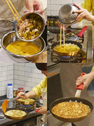 伏見唐辛子とツナのたまご焼き