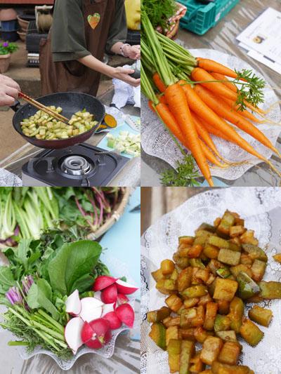 収穫した野菜を食べよう