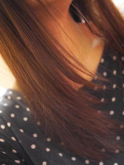 するんとした髪に