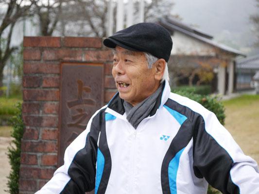 江尾地区を案内してくださった手島先生