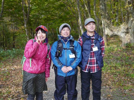木谷沢渓流散策のガイドさん