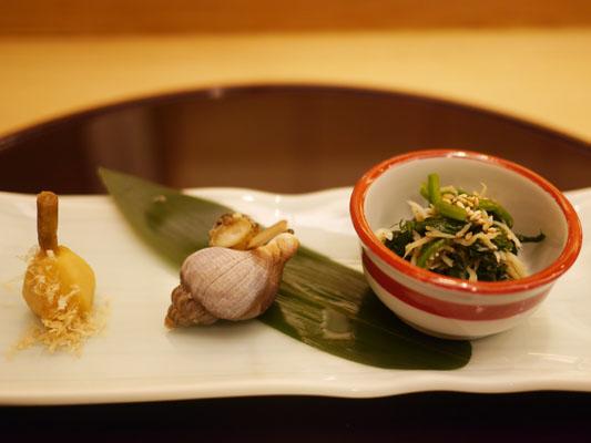 美寿思の会席コースの前菜