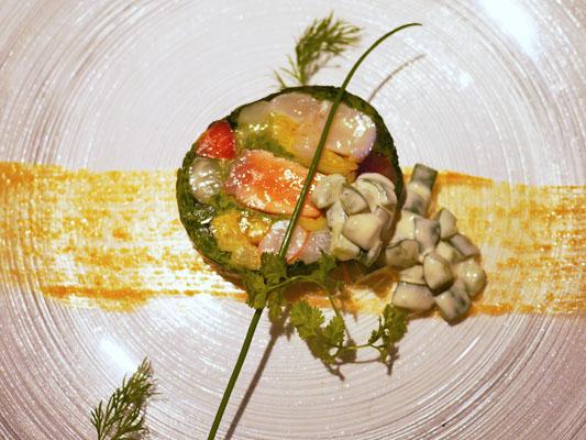 ル・クール 海の幸と野菜のガランティーヌ
