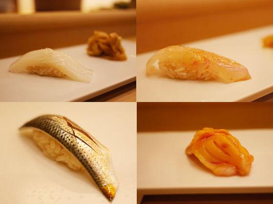 美寿思のカウンターでお寿司