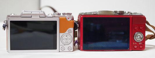 LUMIX GF6とGF7の液晶面比較比較