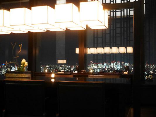 アマン東京 ラウンジからの夜景