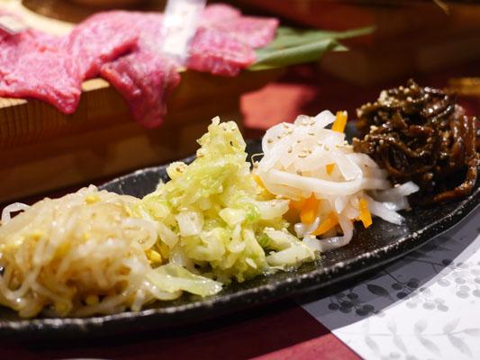 錦糸町 安芸の膳 ナムルの4種盛り
