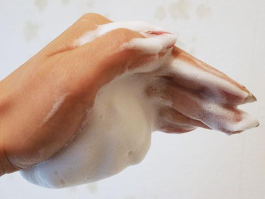 資生堂 プリオール 洗顔石けん 泡立ち