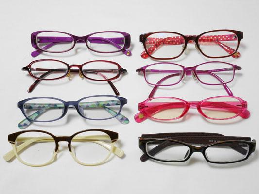 気づいたらメガネを8本も持っていました!