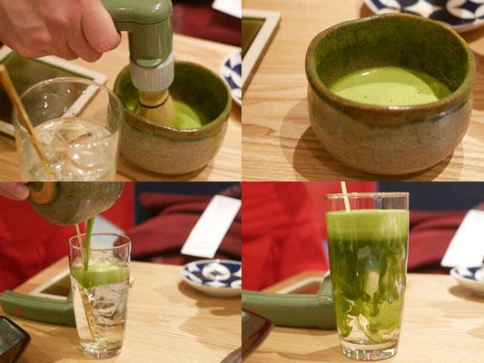 津田沼 焼肉寿司 濃厚抹茶ハイ