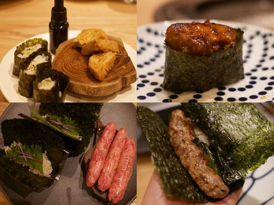 津田沼 焼肉寿司 フォアグラ寿司と牛つくね