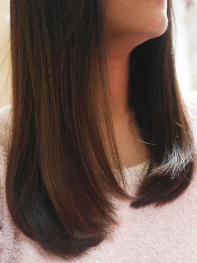 ミネコラパーフェクト3 まとまりが良くストンとした髪