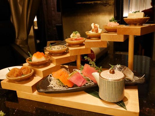 竹庭TOMORI 船橋店 前菜の7点盛り合わせ