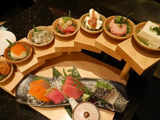 竹庭TOMORI 船橋店 ボリューム満点の前菜の7点盛り合わせ