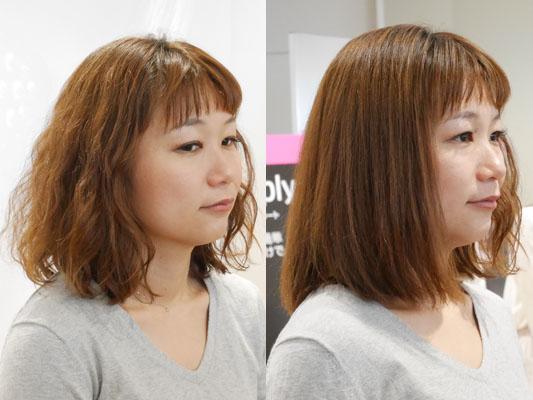 ブラシ型ヘアアイロン「シンプリーストレート」くせ毛を伸ばす