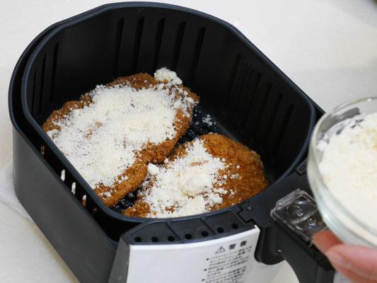 カラーラで揚げ物温め アレンジ チーズ