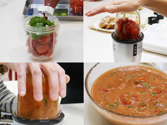 材料をマジックブレット デラックスに入れるだけ トマトソース