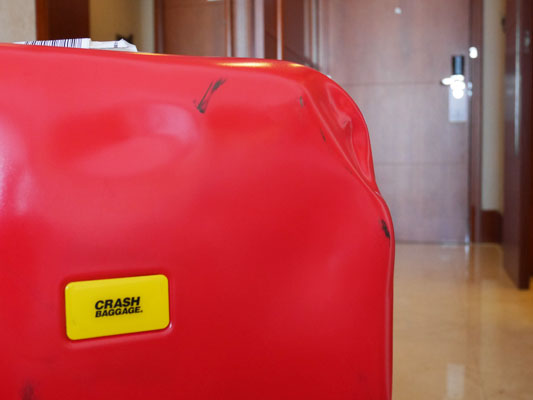 クラッシュバゲージ 汚れても気にならないスーツケース