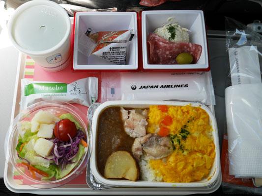 JAL 日本航空 成田中国便 機内食 メニュー