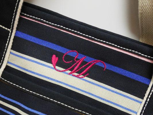 ランズエンド  キャンバストートバッグ イニシャル刺繍 レビュー