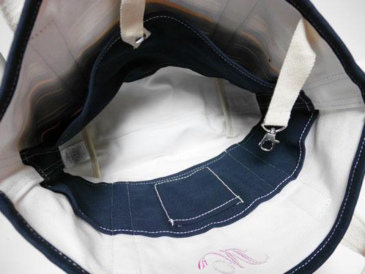 ランズエンド  キャンバストートバッグ オープントップ ミディアム 使いやすい