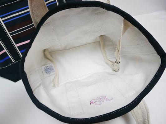 ランズエンド  キャンバストートバッグ オープントップ スモール 内側