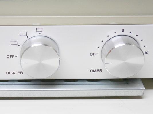 オーブントースター BRUNO「ダブルヒータートースター」デザイン性 つまみ