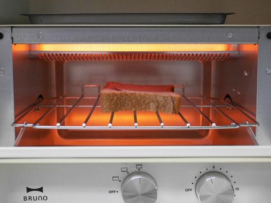 オーブントースター BRUNO「ダブルヒータートースター」トースト 機能