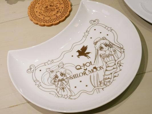 スイート・クライシス・ムーン・ケーキ お皿 Q-pot CAFE.(キューポットカフェ)×セーラームーンコラボ