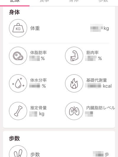 Diet Plus 体重体組成計 アプリで管理