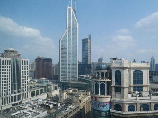 上海旅行 ホテル 上海マリオットホテル シティセンター 部屋からの眺め 口コミ 感想