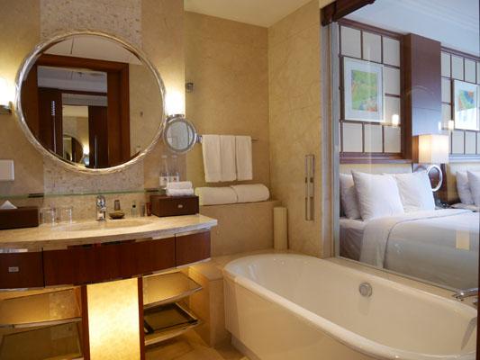 上海旅行 ホテル 上海マリオットホテル シティセンター バスルーム 口コミ 感想