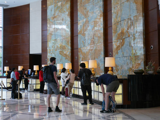 フロント 上海旅行 ホテル 上海マリオットホテル シティセンター