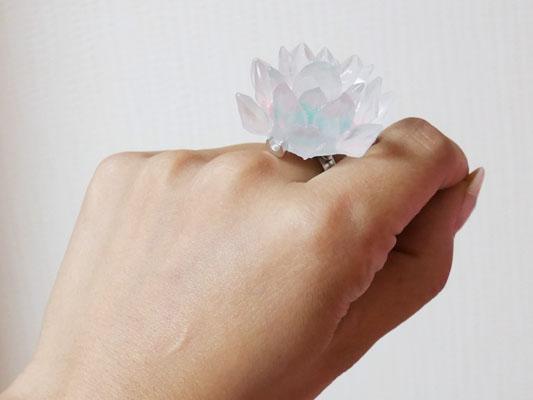 Q-pot.(キューポット)×セーラームーン 2017 幻の銀水晶 パート ドゥ フリュイ 指輪 大きさ