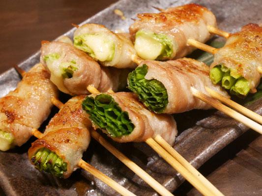 永山本店〜炎の陣〜上野新館 レタスと若摘みネギの肉巻き野菜串