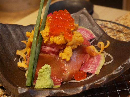 まぐろ料理専門店 マグロキッチン 浜松町店 うにとろ