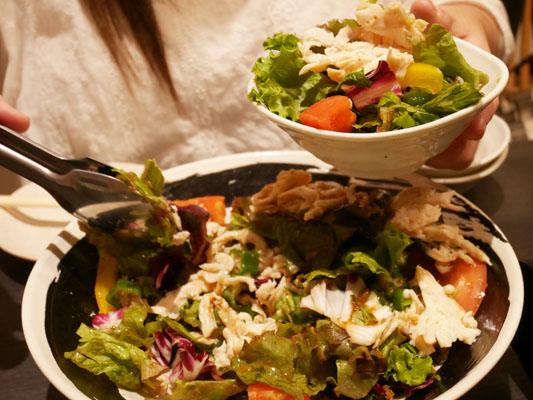 日の膳 千葉店 風コース 蒸し鶏とオクラの和風サラダ