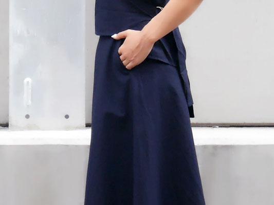 ラインがキレイなロングスカート ポケット プチプラ