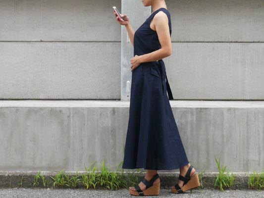 真夏のオトナ女子ファッション ノースリーブセットアップ