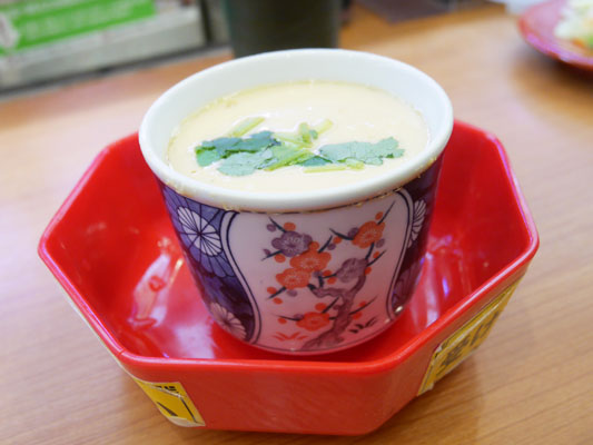 くら寿司 糖質オフメニューと一緒に茶碗蒸しを