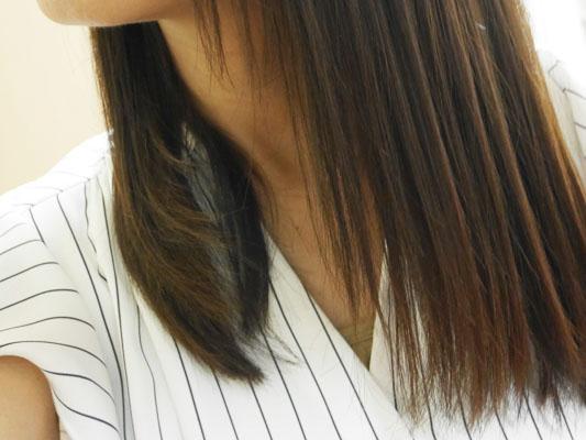 キャロル・ジョイ・ロンドン ヘアオイル 使用後の髪