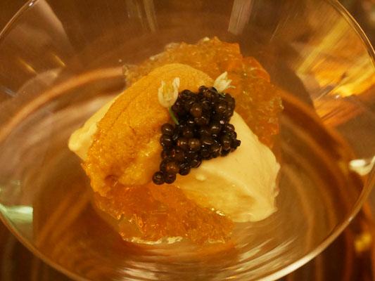 広尾 海栗バー つきひ 雲丹とキャビアのプリン