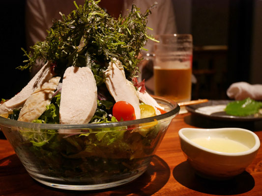 NEW江戸前STYLE 本丁 蒸し鶏のレモンドレッシングサラダ