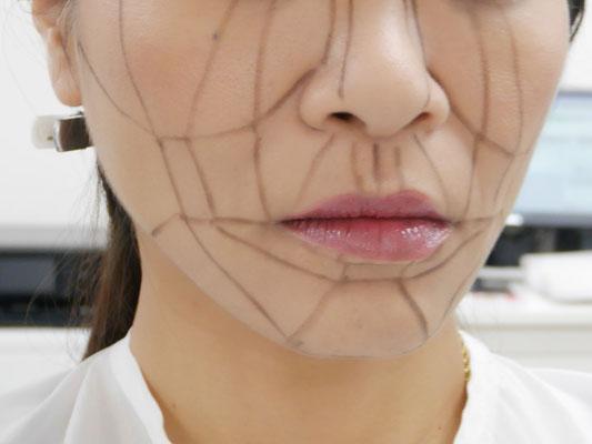 MAMEW(マミュー)骨筋メイク 顔の歪みやパーツの位置を知りたい