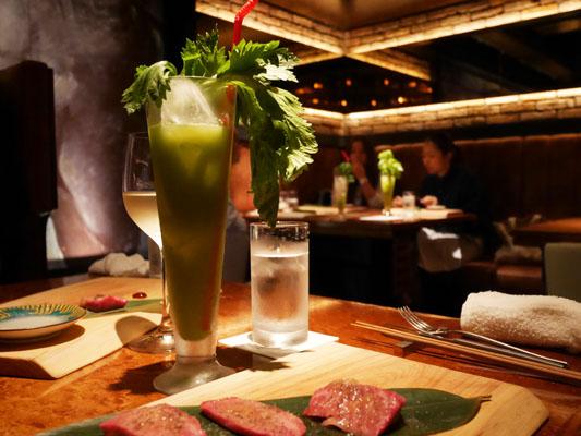 新橋 焼肉 YAKINIKU FUTAGO ノンアルコールペアリング フレッシュ野菜のカクテル