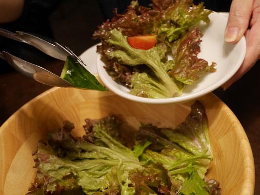 プロースト東京 コース 有機野菜のグリーンサラダ