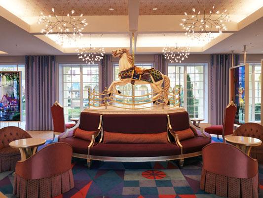 東京ディズニーセレブレーションホテル キャッスルカルーセル ソファー フォトスポット