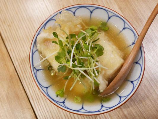 焼鳥 ふくなが おぼろ豆腐の揚げ出し豆腐