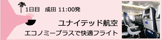 グアム ユナイテッド航空 成田発 口コミ