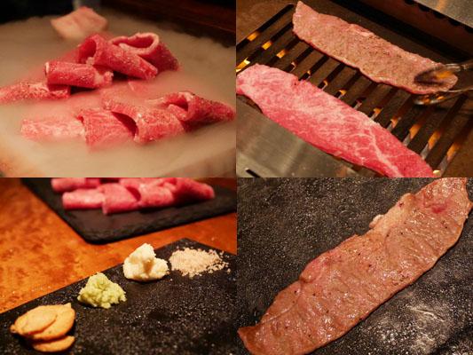 新橋 焼肉 YAKINIKU FUTAGO コース 本日の黒毛和牛 ミスジ